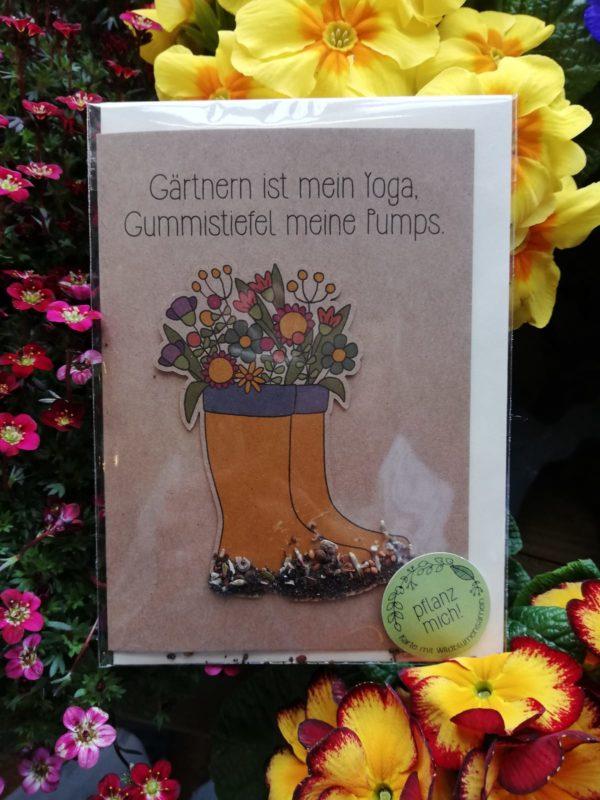 Gärtnern ist mein Yoga, Gummistiefel meine Pumps.