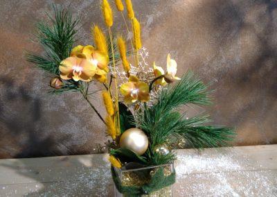 Orchidee im Glas dekoriert